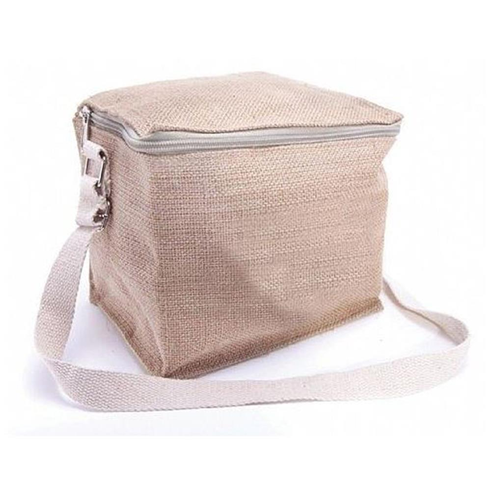 6 Can Jute Cooler Bag